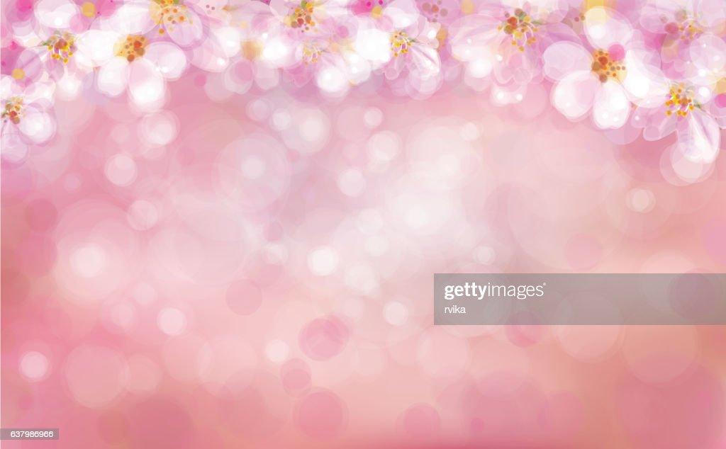 Vector  floral bokeh background.