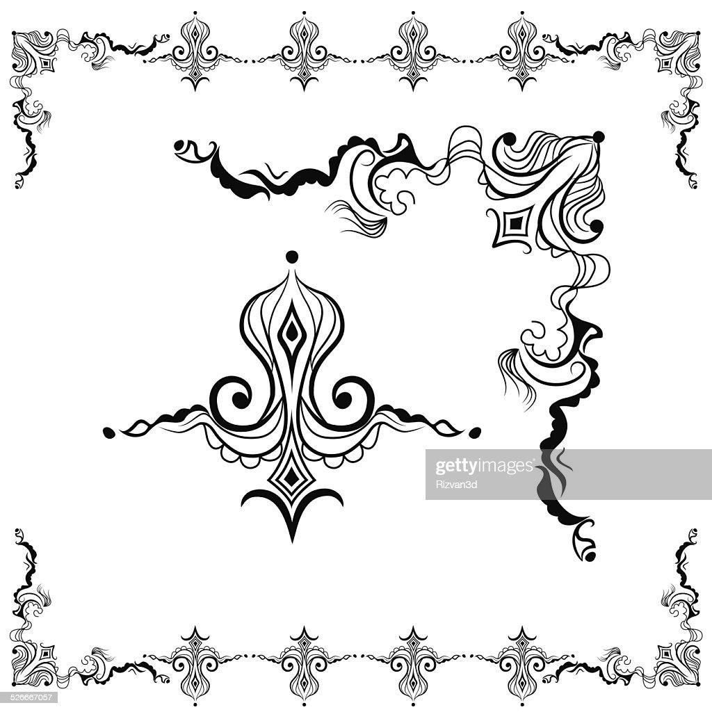 Vector Floral Border Design