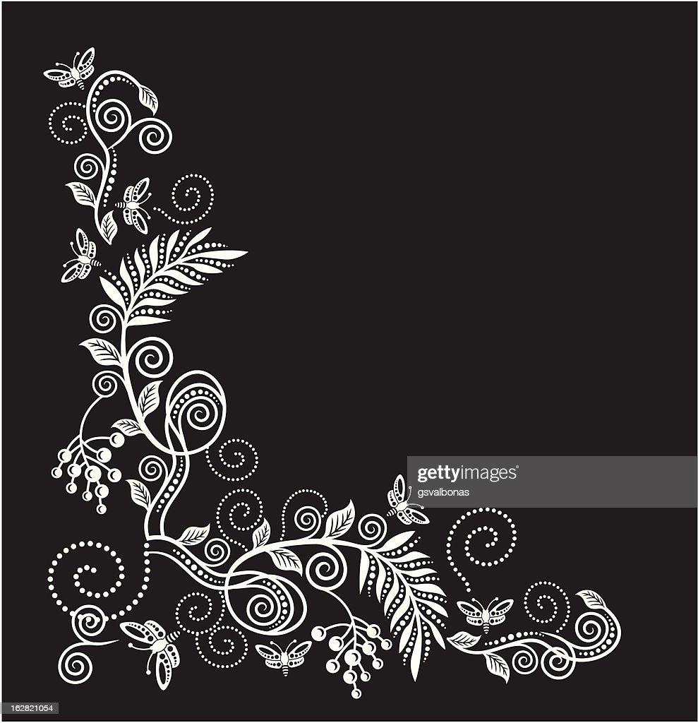 vector floral corner
