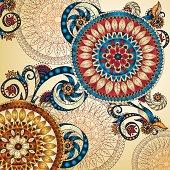 Vector floral decorative background.