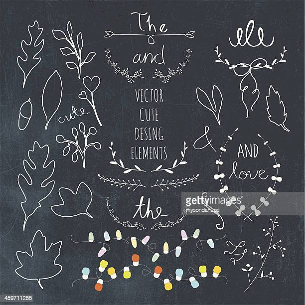 vector floral deisgn elements - embellishment stock illustrations