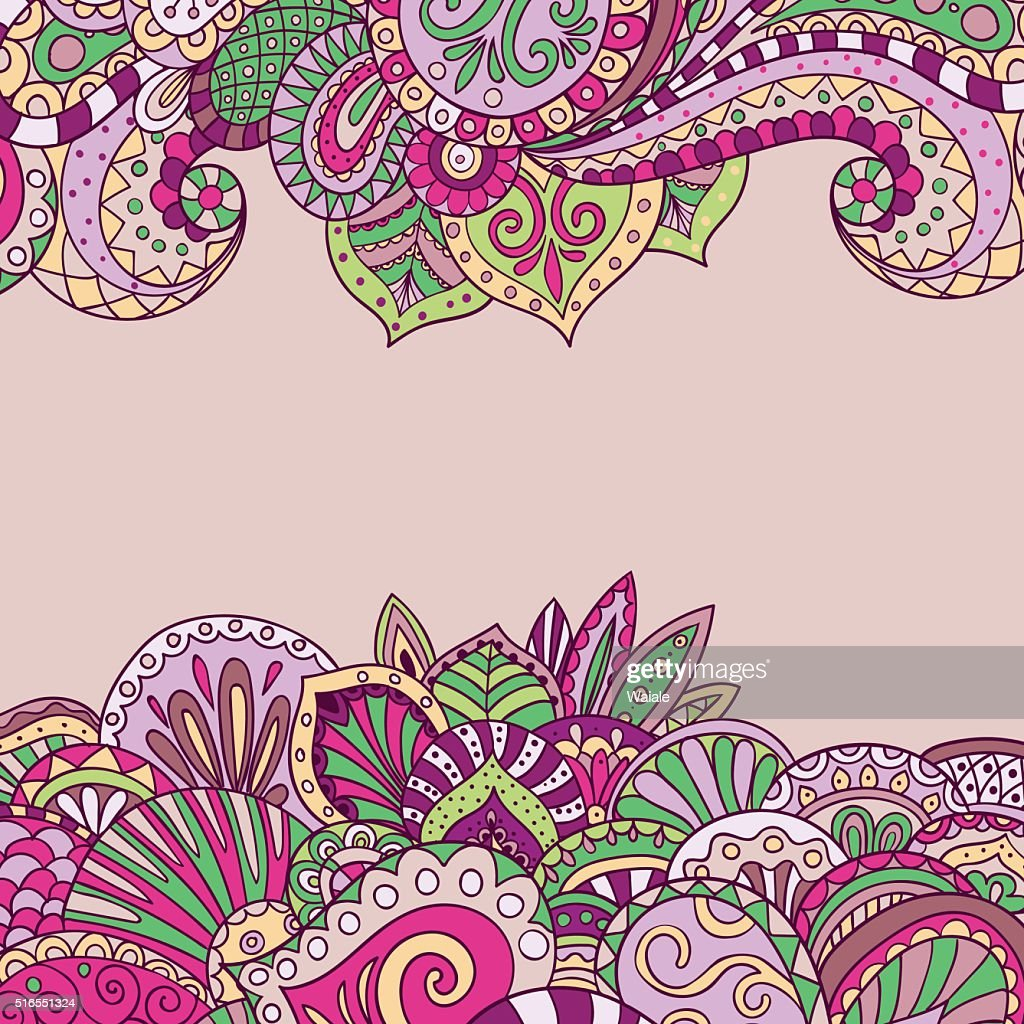 Vector floral pattern in pink