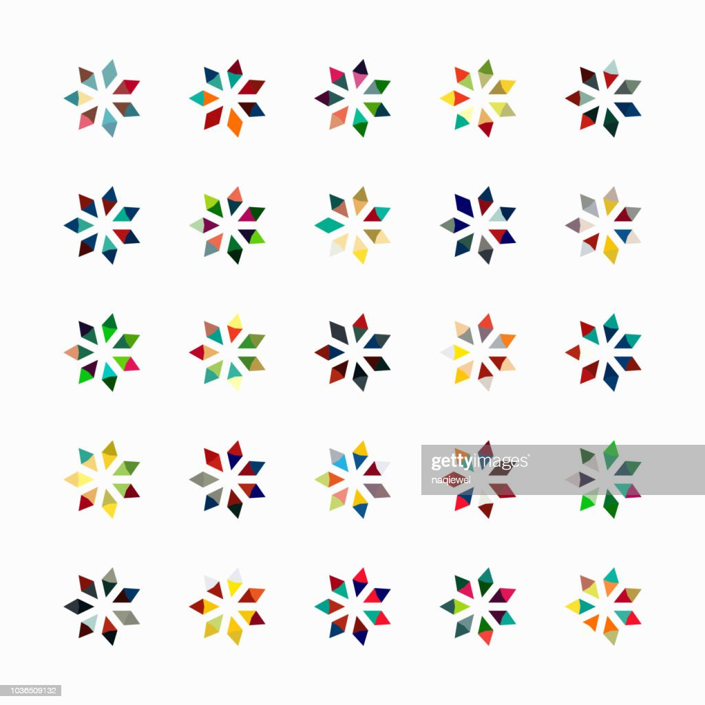 Vector floral pattern symbol collection : stock illustration