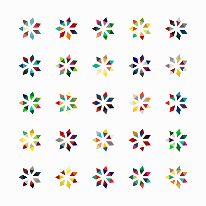 Vector floral pattern symbol collection - gettyimageskorea