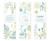 Vector floral templates.