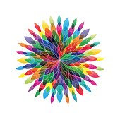 Vector flower in abstract shape. Spring concept