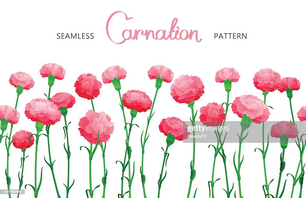 Vector flower seamless border