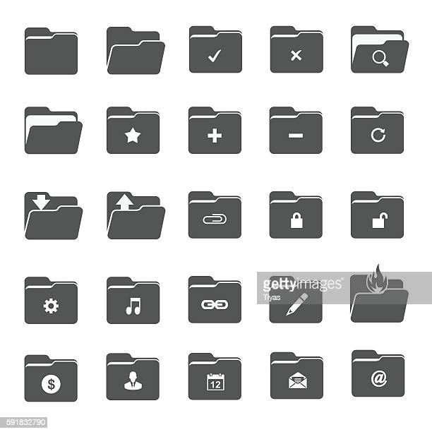 vector folder icons - files stock illustrations, clip art, cartoons, & icons