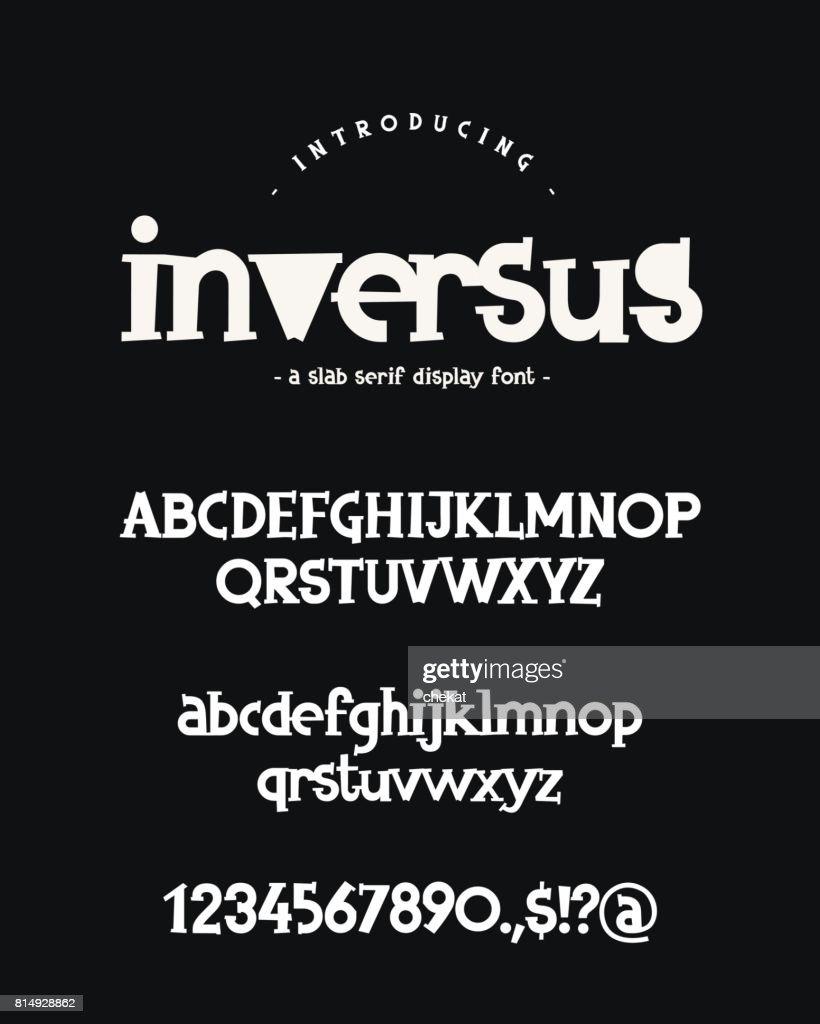 Vector font on black background.