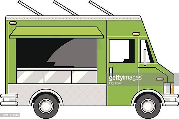 vector food truck