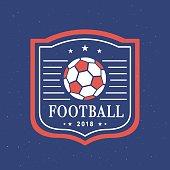 Vector Football 2018 emblem Template Set