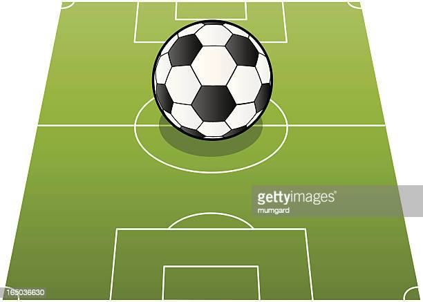 vector football and pitch - corner marking stock illustrations, clip art, cartoons, & icons