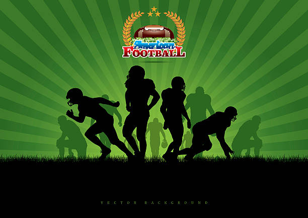 Vector Football Background Wall Art