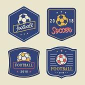 Vector Football icon Template Set