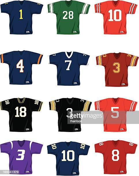 vector football jerseys - generic description stock illustrations, clip art, cartoons, & icons