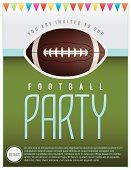 Vector Football Party Flyer Illustration