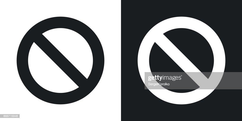 Vector forbidden sign. Two-tone version