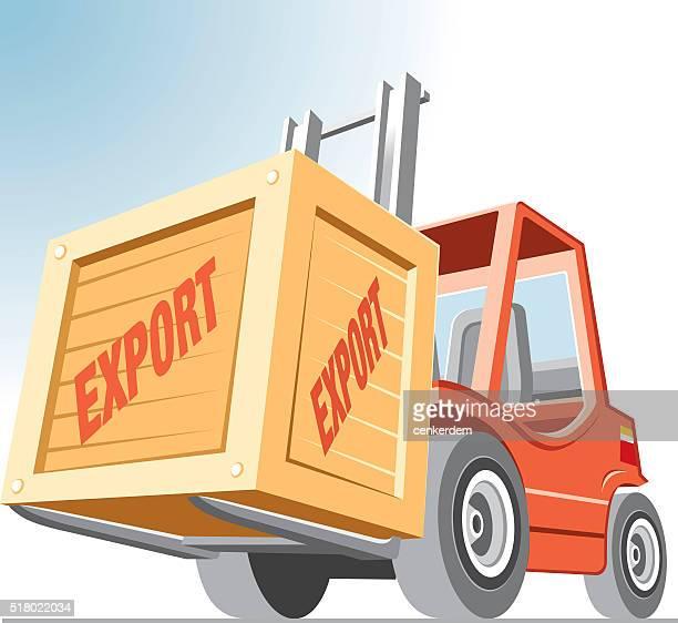 vector forklift - rail freight stock illustrations, clip art, cartoons, & icons