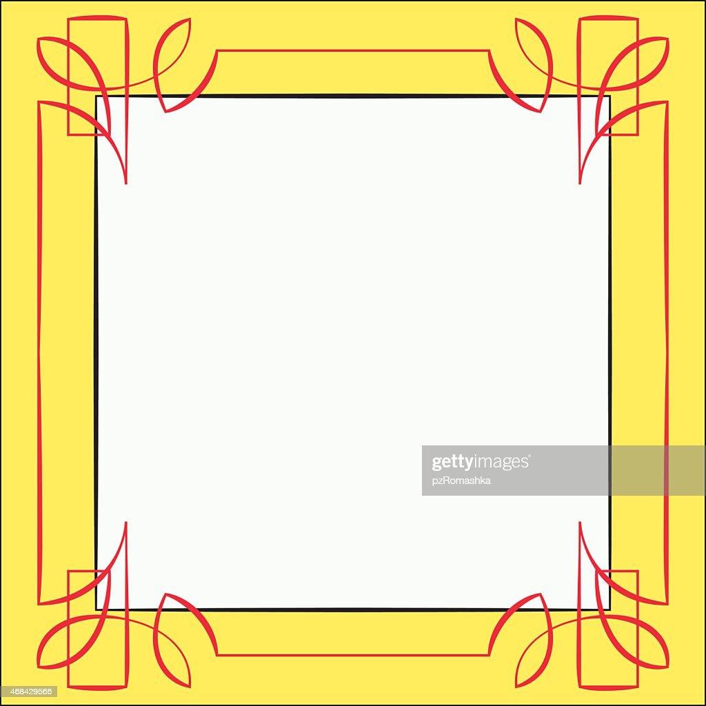 Vector frame. Element for design