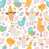 Vector frame with cute birds