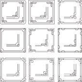Vector frames borders art deco style