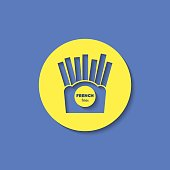 Vector french fries icon. Food icon. Eps10