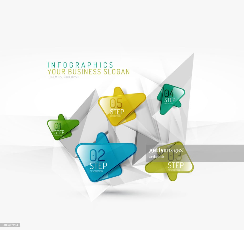 Vector fresh business abstract infographic : Vector Art