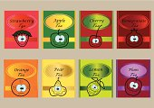 vector fruit tea packaging