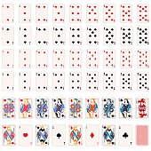 Vector Full Set of Playing Cards
