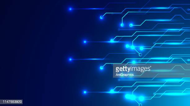 vector futuristic circuit board background - electricity stock illustrations