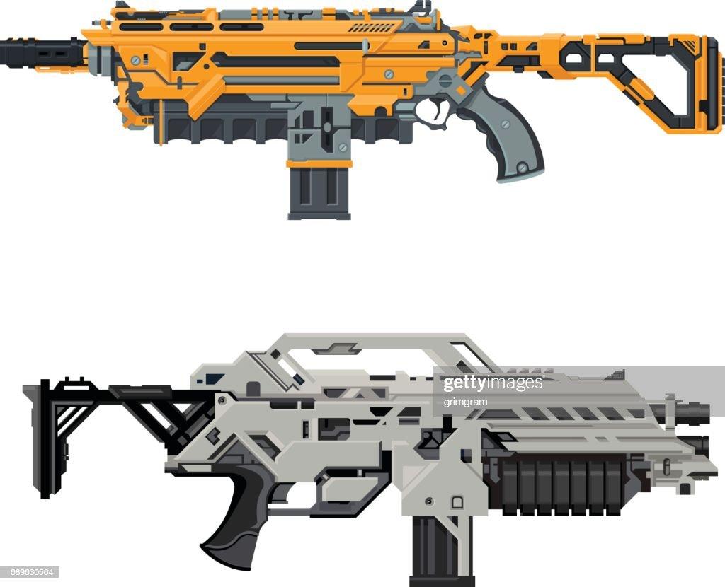 Vector Futuristic Guns