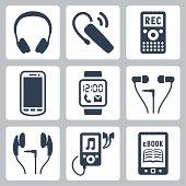 Vector gadgets icons set