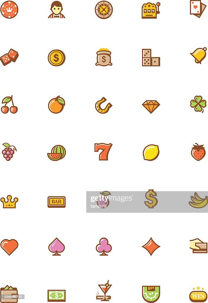 Vector gambling icon set : Vector Art