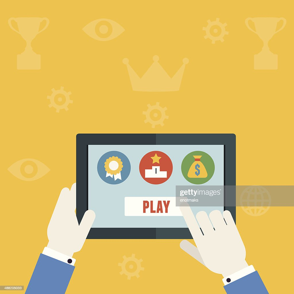 Vector gamification concept of business