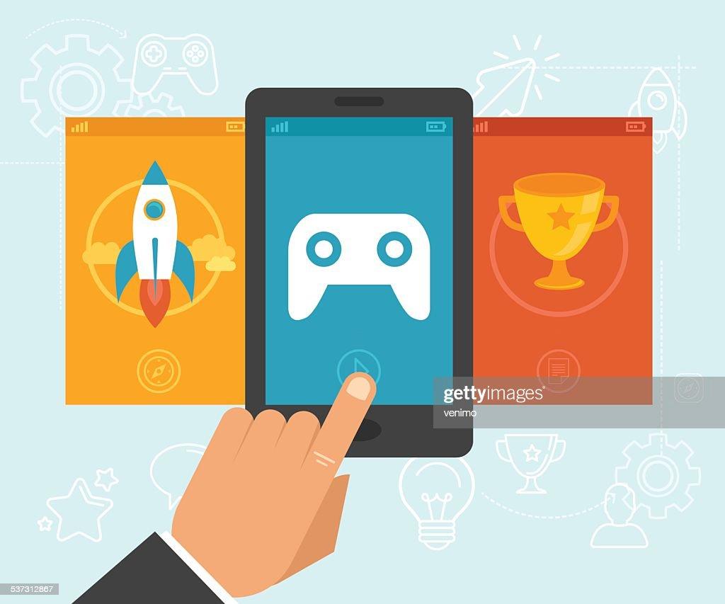 Vector gamification concept