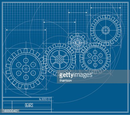 Blueprint gear vector art getty images keywords backgrounds blue blueprint concepts malvernweather Gallery