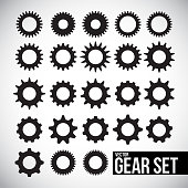 Vector gear icon set