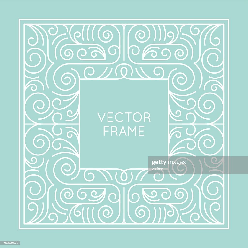 Vector geometric frame with copy space