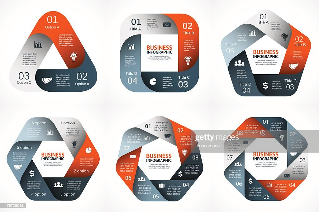 Vector geometric infographic. Template for cycle diagram, graph, presentation and