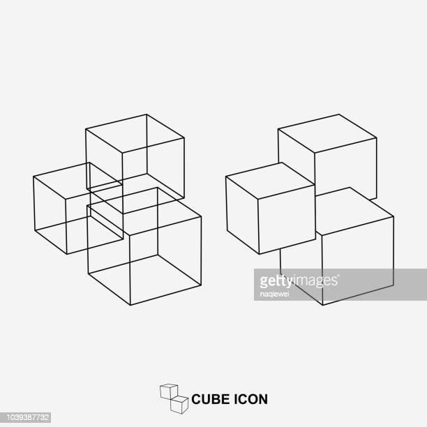 vector geometric line icon - bloco stock illustrations