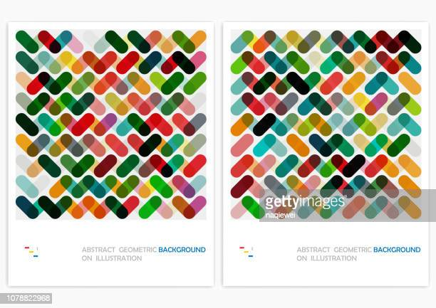 vector geometric pattern backgrounds - colors stock illustrations