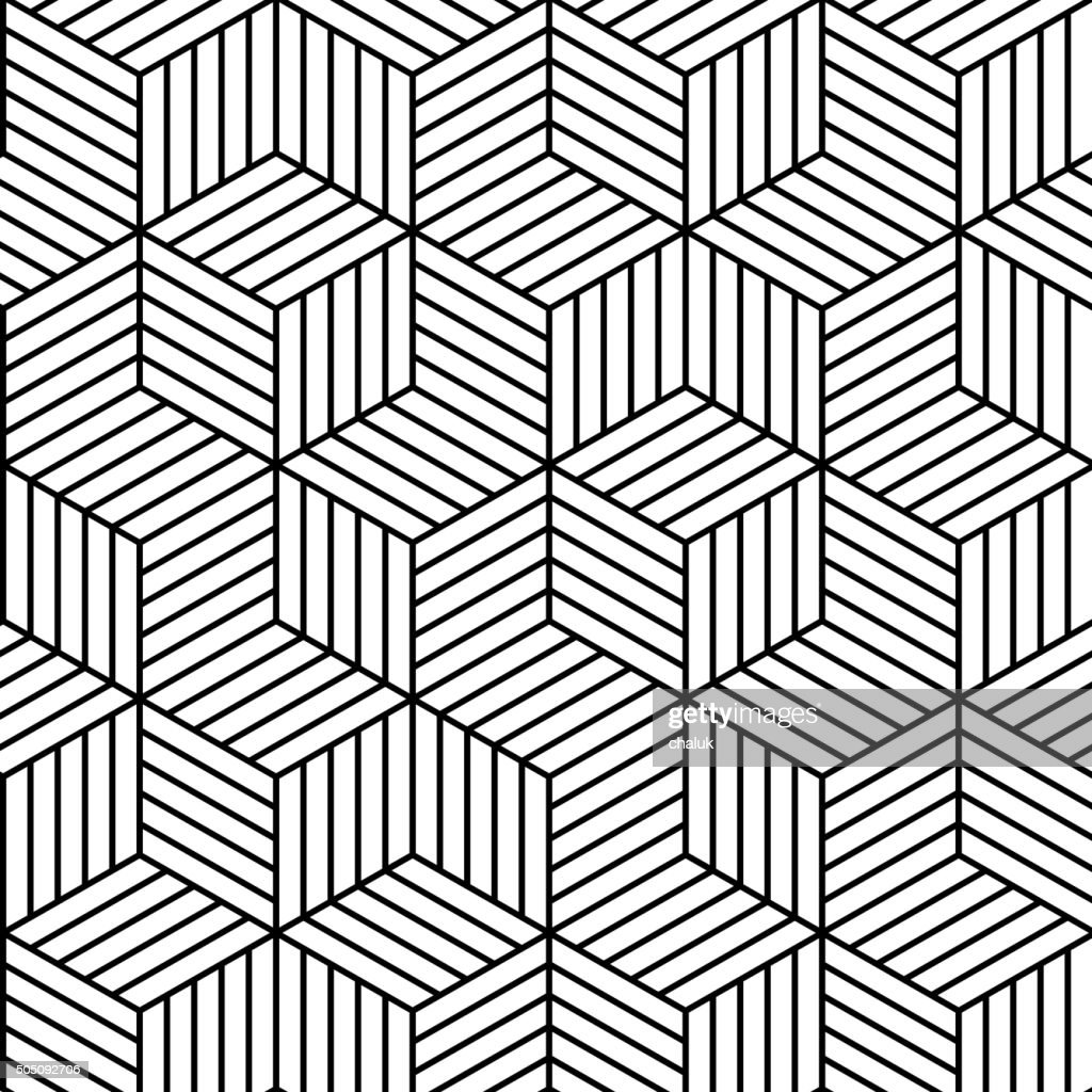 Vector geometric seamless pattern background.