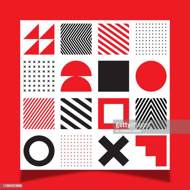 vector geometric seamless pattern with simple shapes. abstract minimalistic background. - square stock illustrations