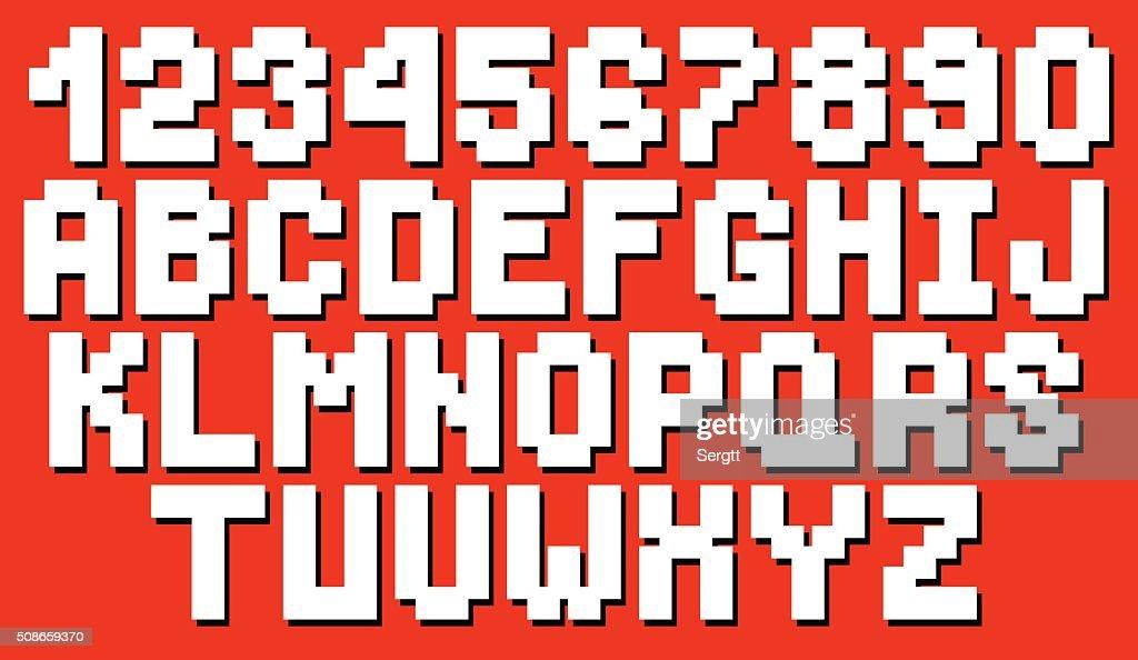 Vector geometric square font : Vector Art