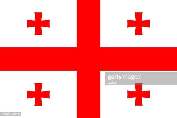 vector georgia flag design - georgia country stock illustrations