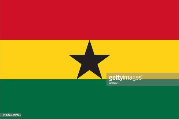 ilustrações, clipart, desenhos animados e ícones de design de bandeira ganesa vetorial - gana