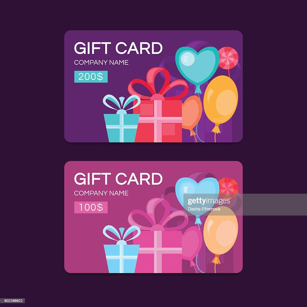 Vector gift cards.