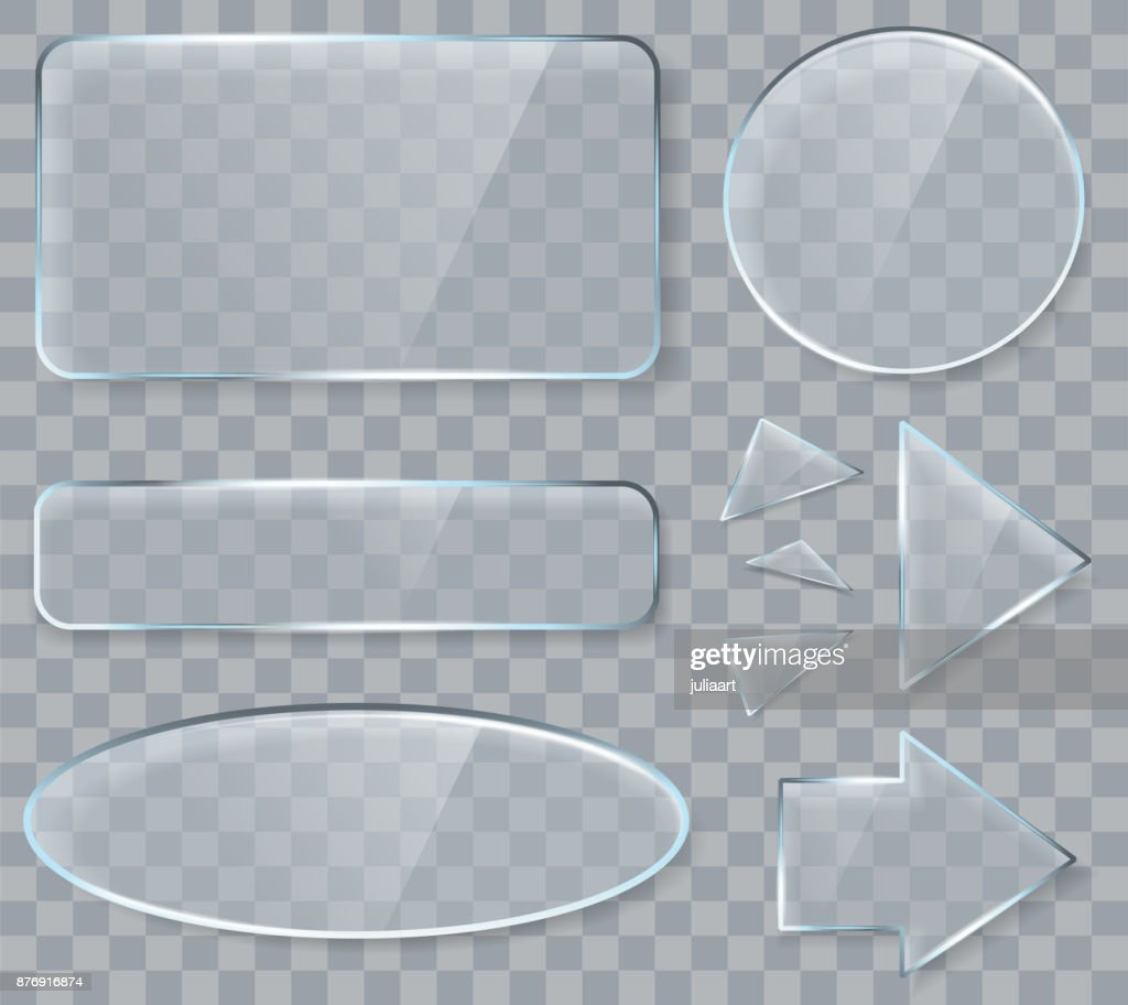 Vector glass design elements for game and web