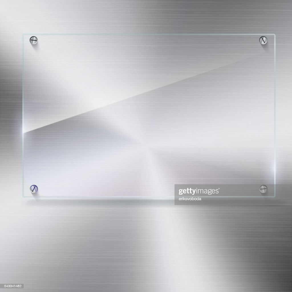 Vector glass frame with rivets