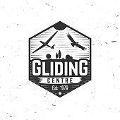 Vector Gliding club retro badge